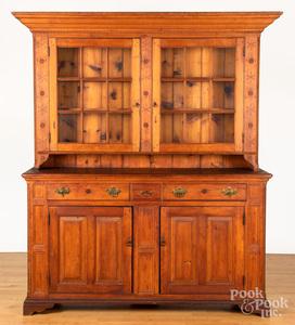 Pennsylvania pine two-part Dutch cupboard