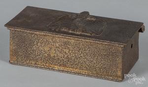 Civil War era iron lock box