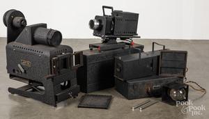 Two Spencer Lens Co. Delineascope projectors