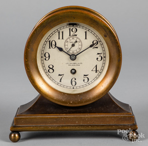 Chelsea brass ships bell mantel clock