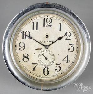Seth Thomas U.S. Navy ship clock