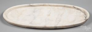 Oval marble tray