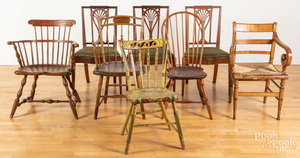 Eight miscellaneous chairs