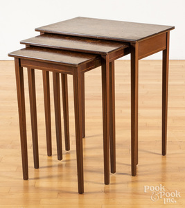 Eight assorted end tables