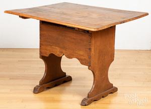 New England pine chair table