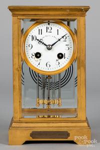 French crystal regulator clock