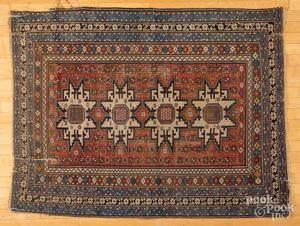 Lesghi Star Shirvan carpet, ca. 1900, etc.