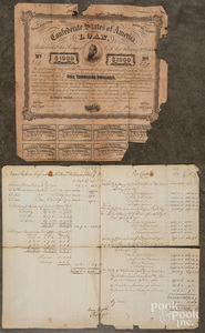 French Indian war military ledger