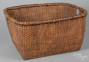 Large split oak basket
