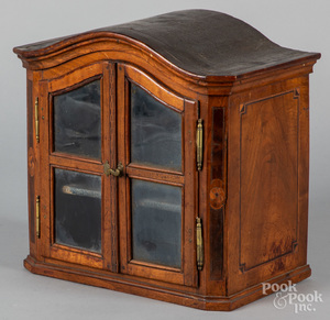 Small Dutch walnut display cabinet