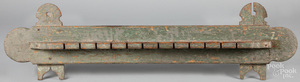 Painted pine spoon rack