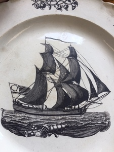 Liverpool pitcher and plate, etc.