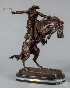 Bronze Bronco Buster, after Frederic Remington