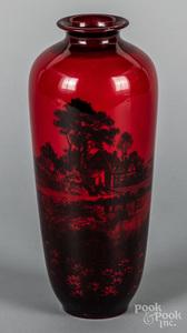 Royal Doulton flambé vase by Noke