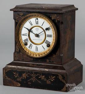 Ansonia iron shelf clock