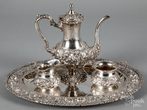 Stieff sterling silver four-piece tea service