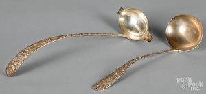 Two sterling silver ladles, one by Stieff