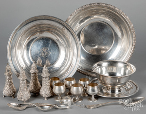 Sterling silver, to include four Stieff shakers