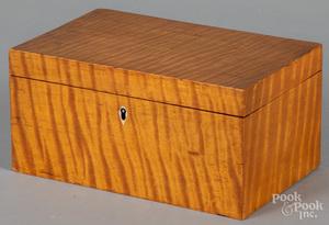 Tiger maple dresser box