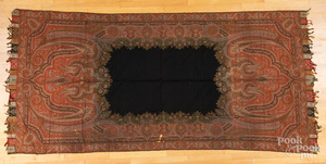 Kashmir paisley shawl, together with a Yei rug