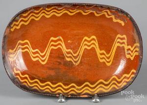 Pennsylvania redware loaf dish