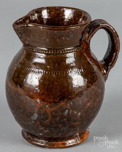 Jacob Medinger redware pitcher