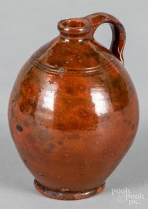 Redware ovoid jug