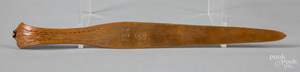 Arts and Crafts copper letter opener by Roycroft