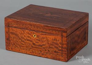 Federal style mahogany dresser box