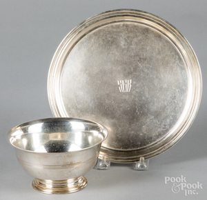 Tiffany & Co. sterling silver tray and bowl