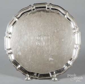 Gorham sterling silver Chippendale tray