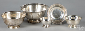 Five sterling silver bowls