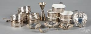 Twelve Gorham sterling silver custard cups, etc.