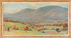 Francis Dixon, oil on board landscape