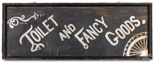 Painted Toilet and Fancy Goods trade sign