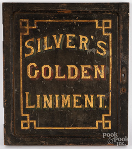 Painted Silver's Golden Liniment cabinet door
