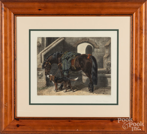 Pair of color horse lithographs