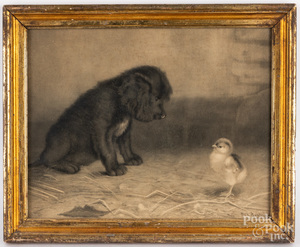 Ben Austrian print of a dog and chick