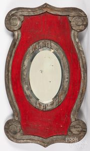 Carved and painted mirror