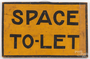 Painted Space To-Let sign