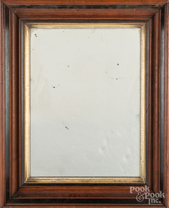 Victorian mirror, together with two oak frames.