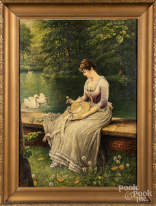 Annie M. Snyder, oil of a young woman