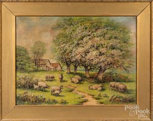 Annie M. Snyder, oil on canvas landscape