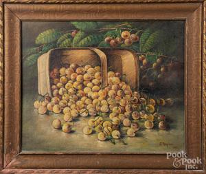 Annie M. Snyder, oil on canvas still life