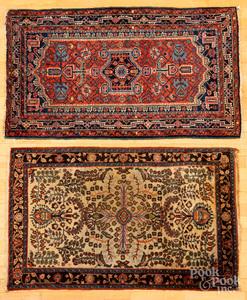 Two Hamadan mats, etc.