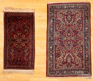 Two Sarouk mats