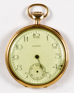 Gold filled E. Howard Watch Co. pocket watch
