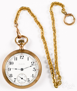 Gold filled Elgin open-face pocket watch
