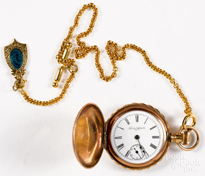 14K gold and gold filled Trenton Watch Co. ladies pocket watch