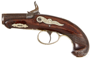 Unmarked Derringer type percussion pistol